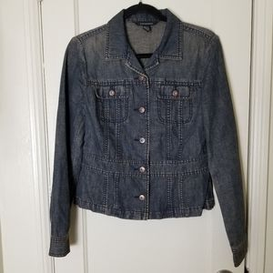 CLUB MONACO linen cotton denim jacket